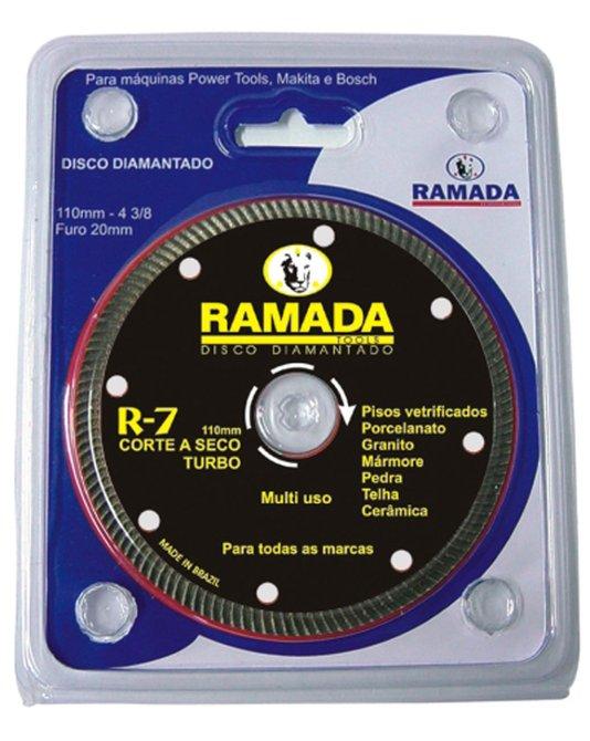 "Disco Corte Diamantado Profissional 4"" R7 - Turbo Encartelado - Ramada"