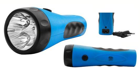 Lanterna com Bateria Recarregável 5 Leds Encartelada - Albatroz