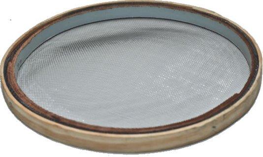 Peneira Arame Galvanizado com Aro de Madeira 30cm para Fuba / Farinha - Telas MM
