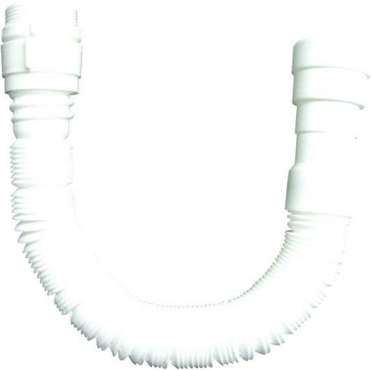 Sifão Plástico Sanfonado Branco Longo 1,50m - Blukit