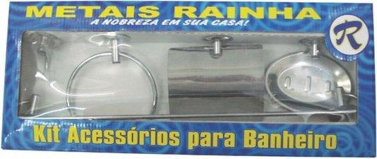 Kit para Banheiro de Metal 5 Peças - Metais Rainha