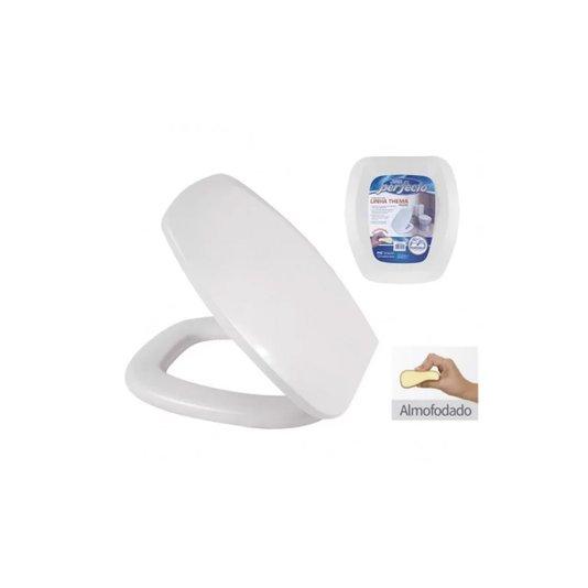 Assento Sanitário Plástico Almofadado Perfecto Thema Branco - Metasul
