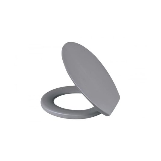 Assento Sanitário Plástico Soft Cinza - Metasul