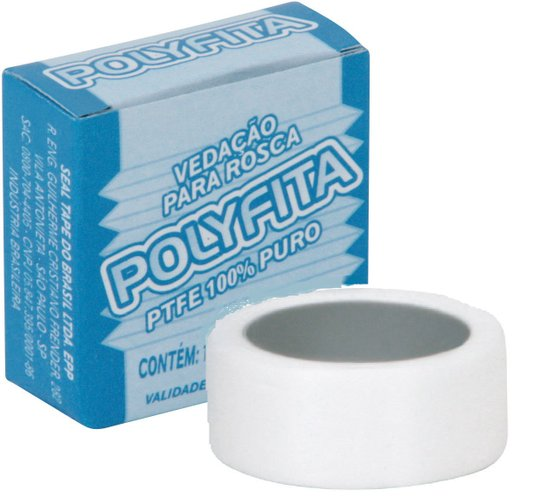 Fita Veda Rosca Branca 12mm Seal-Tape - Polyfita