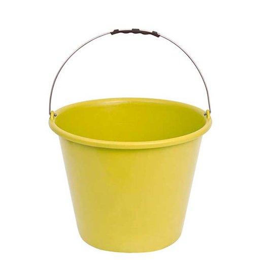 Balde Plástico Amarelo sem Pegador no Fundo Alça de Aço 12 Litros - Terraplast