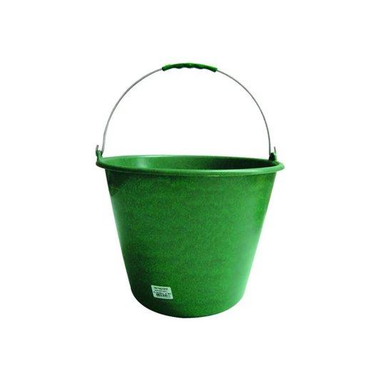 Balde Plástico Verde sem Pegador no Fundo Alça Aço 12 Litros - Terraplast