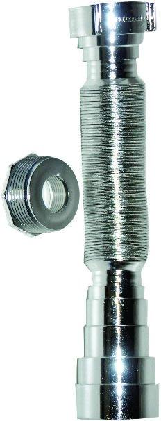Sifão Plástico Sanfonado Universal Cromado/Metalizado - Blukit