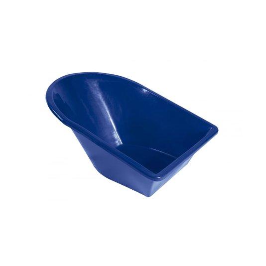 Caçamba Plástica sem Furação para Carrinho de Mão com Anti-UV 90 litros Azul - Metasul