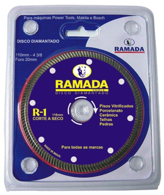 "Disco Corte Diamantado Profissional 4"" R1-Liso Encartelado - Ramada"