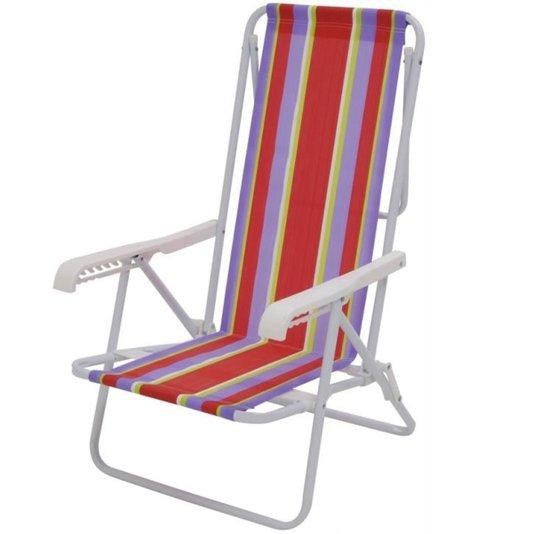 Cadeira Aço 8 Posições Dobrável 90kg Color - Mor