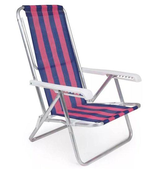 Cadeira Alumínio 8 Posições Dobrável 90 kg Color - Mor