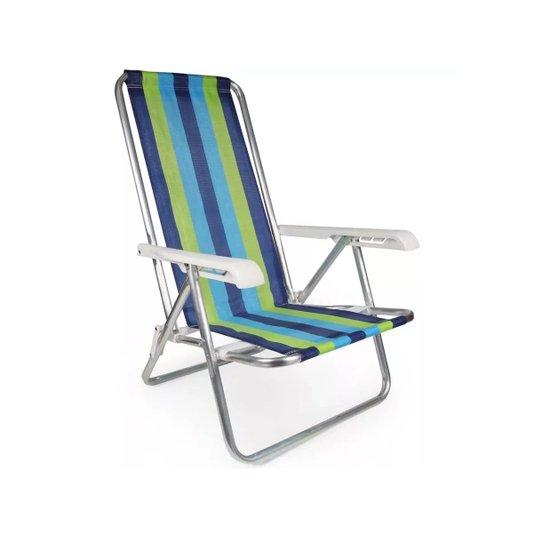Cadeira Alumínio Dobrável 4 Posições 90kg Color - Mor