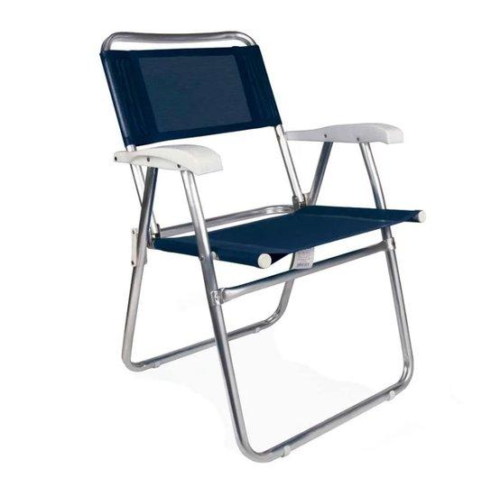 Cadeira Alumínio Master Dobrável 120kg Azul - Mor