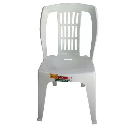 Cadeira Bistrô Plástica Branca Reforçada Capacidade 182kg