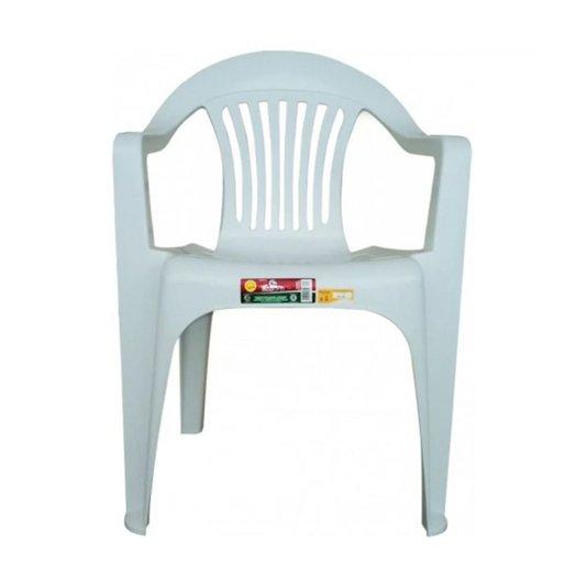 Cadeira Poltrona Branca Carga Máxima 182kg