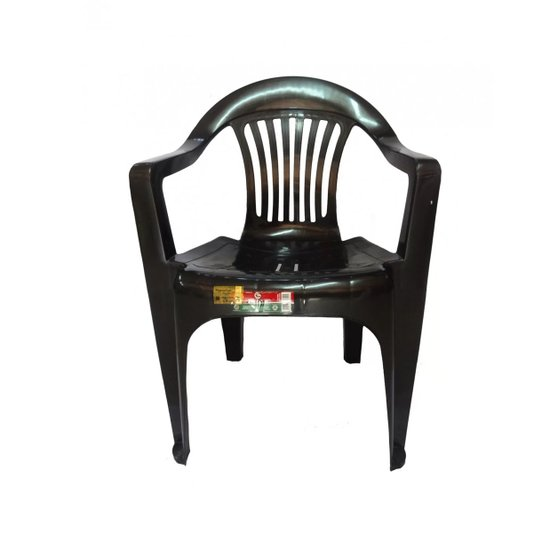 Cadeira Poltrona Preta Carga Máxima 182 kg
