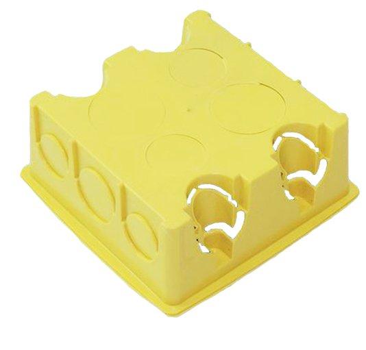 Caixa de Luz Plástica Quadrada Amarela 4x4 - Gerplast