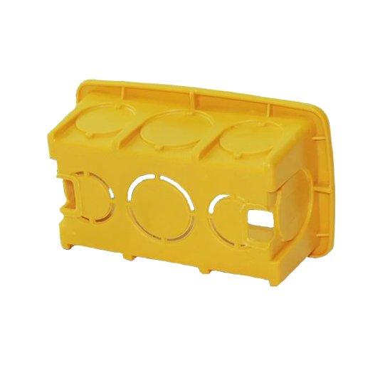 Caixa de Luz Plástica Retangular Amarela 4x2 Reforçada - Gerplast