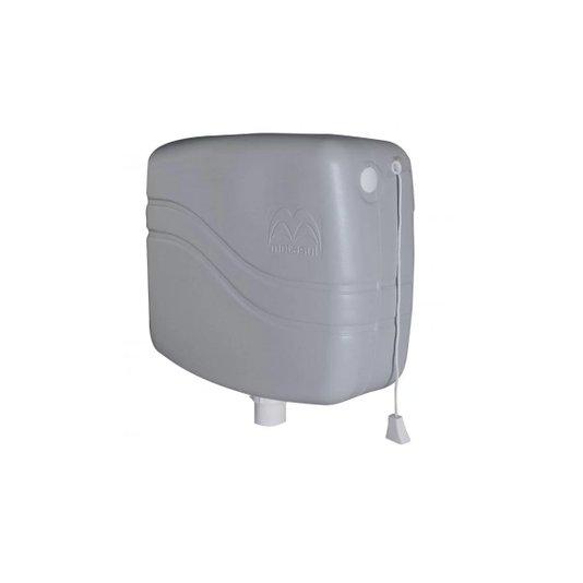 Caixa Descarga Plástica 9 litros Cinza - Metasul