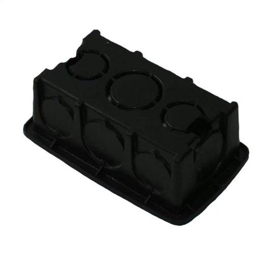 Caixa Luz Plástica Retangular Preta 4x2 Reforçada - Gerplast