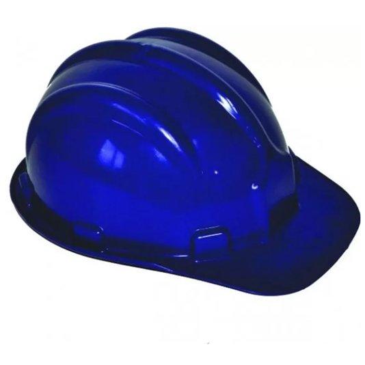 Capacete Segurança Plástico Carneira / Suspensão Interna Azul - Plastcor