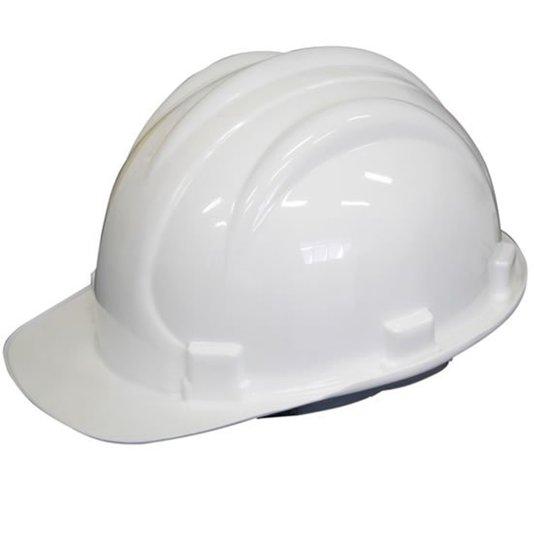 Capacete Segurança Plástico Carneira / Suspensão Interna Branco - Plastcor