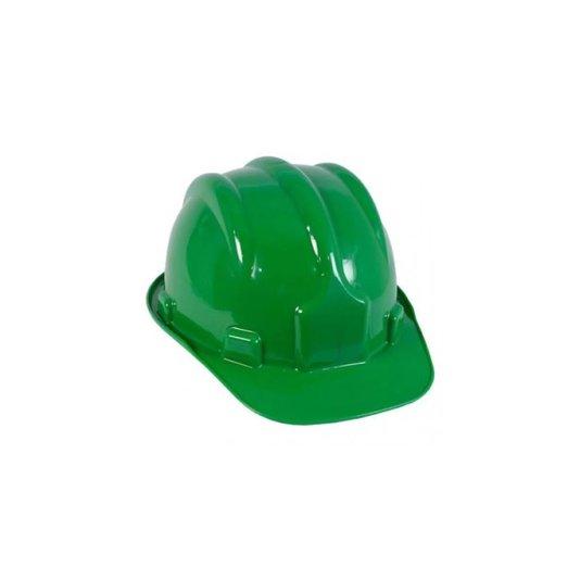 Capacete Segurança Plástico Carneira / Suspensão Interna Verde - Plastcor