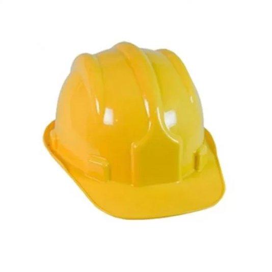 Capacete Segurança Plástico com Carneira / Suspensão Interna Amarelo - Plastcor