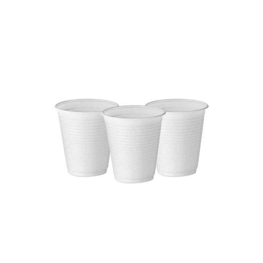 Copo Plástico Descartável Branco Embalagem com 100 unidades 180ml - Ecocoppo