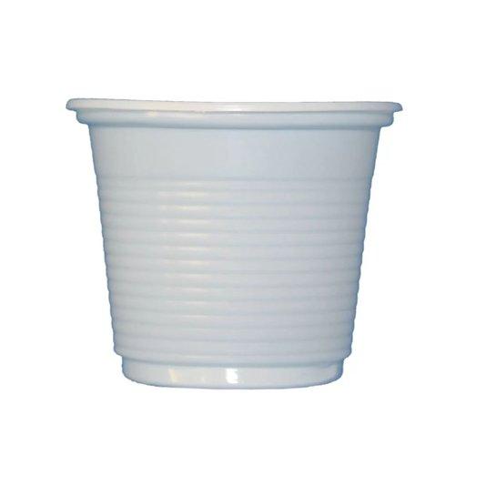 Copo Plástico Descartável Branco Embalagem com 100 unidades 50ml - Cristalcopo