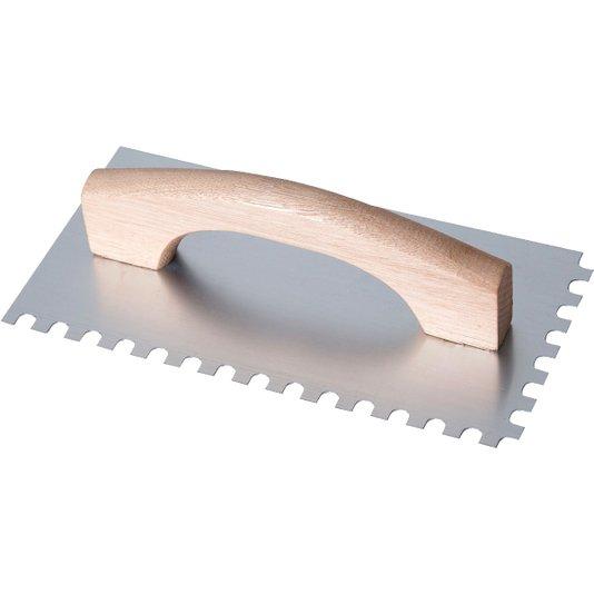 Desempenadeira de Aço Dentada Longa 12 x 48 cm - Gerplast
