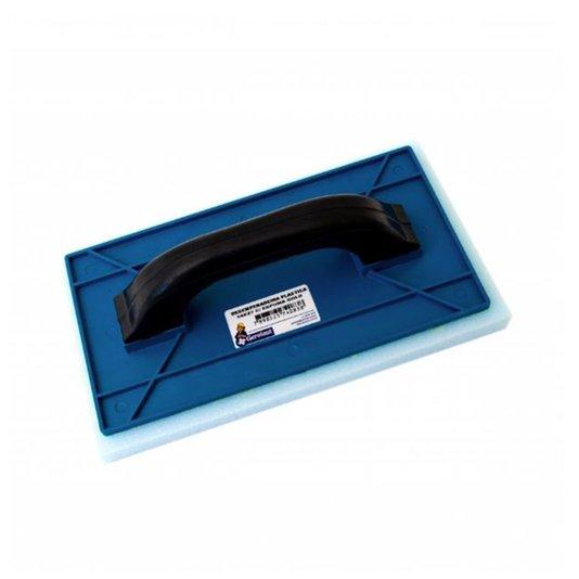 Desempenadeira Plástica Azul com Espuma Cabo Preto 14x27cm - Gerplast