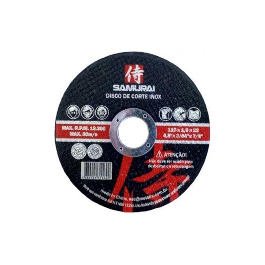 "Disco Corte Aço/Inox Poli-Cut 4.1/2"" (115x1,0x22mm) - Samurai"