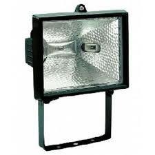 Refletor para Lâmpada Halógena 300/500W Preto - Foxlux