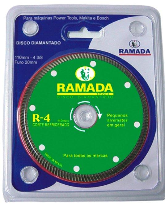 """Disco Corte Diamantado Profissional 4"""" R4 - Segmentado Encartelado - Ramada"""