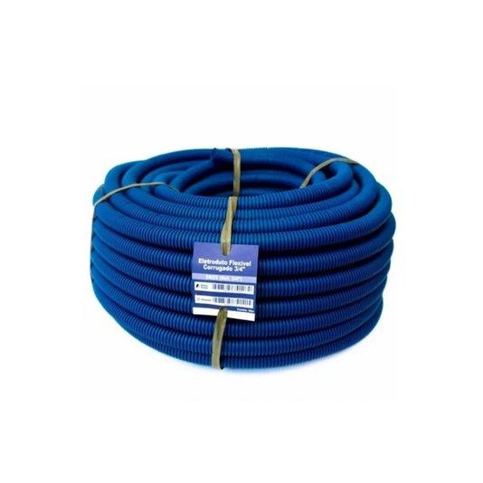"""Eletroduto Corrugado (Conduite) Azul 1"""" - 25m Extra Forte - Volpato"""