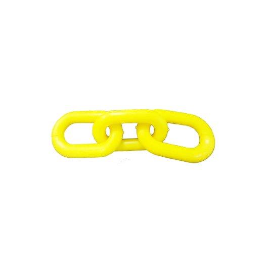 Emenda Corrente Plástica Amarela 8mm Embalagem com 10 Peças - Metasul
