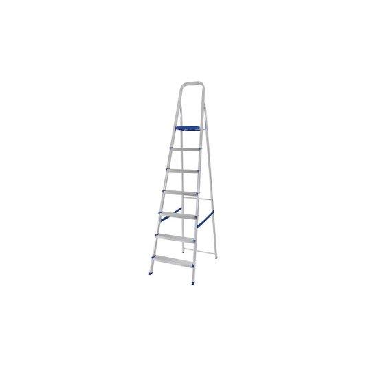 Escada Alumínio 7 Degraus com Fita de Segurança - Mor