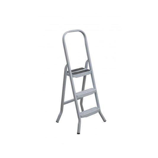 Escada de Aço Branca 3 Degraus Premium - Maestro