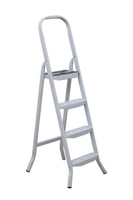 Escada de Aço Branca 4 Degraus Premium - Maestro