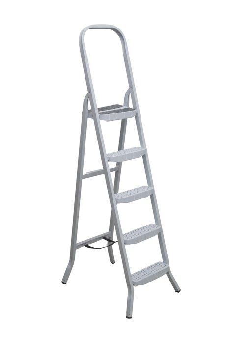 Escada Aço 5 Degraus Premium Branca com Fita - Maestro