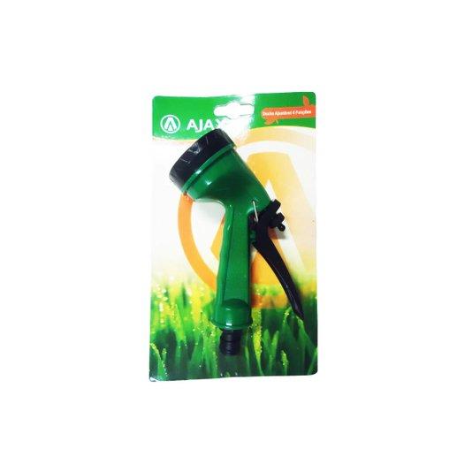 "Esguicho Chuveiro 4 Jatos Plástico Verde / Preto 1/2"" - Ajax"