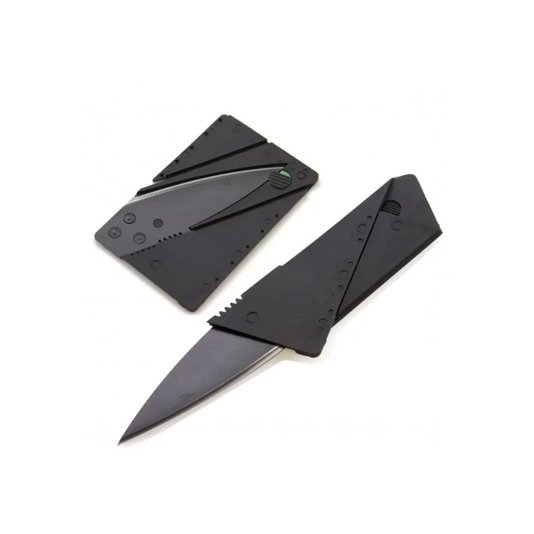 Faca Cartão Tático Inox 14,5cm KMC Black - Albatroz