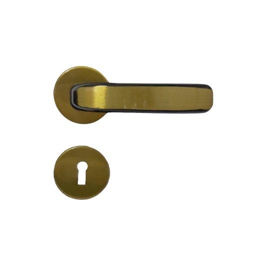 Fechadura Stilo Roseta Bronze Latonado para Porta Interna - Mgm