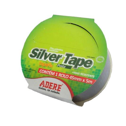 Fita Adesiva Super-Reforçada Cinza Silver-Tape 45mm x 5m - Adelbras