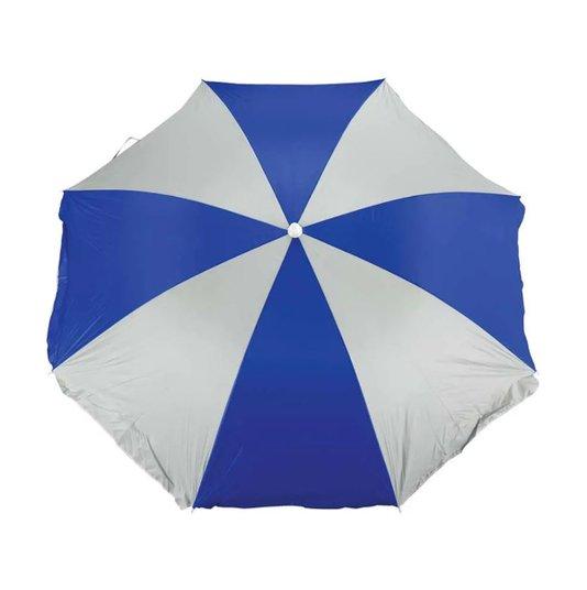 Guarda Sol Praia 1,80 mt Azul/Branco Fashion com Forro - Mor