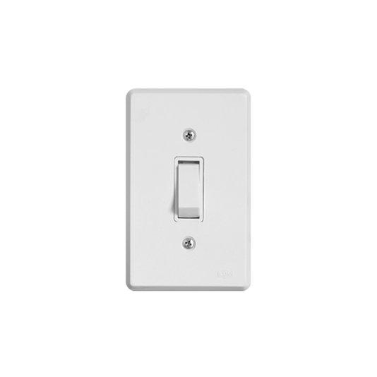 Interruptor Elétrico 1 Tecla Paralela com Placa Branca - Ilumi