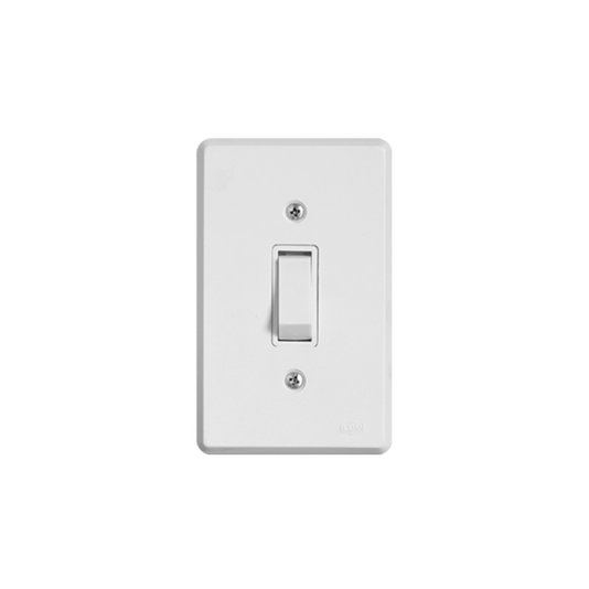 Interruptor Elétrico 1 Tecla Simples com Placa Branca - Ilumi
