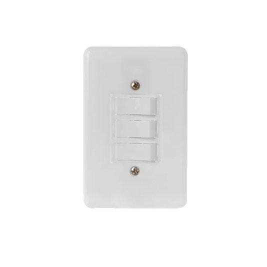Interruptor Elétrico 1 Tecla Simples e 2 Tecla Paralela com Placa Branca - Radial