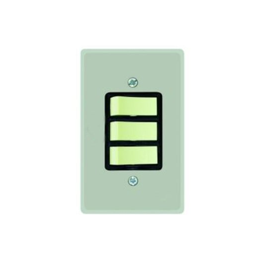 Interruptor Elétrico 1 Tecla Simples e 2 Tecla Paralela com Placa Cinza - Radial